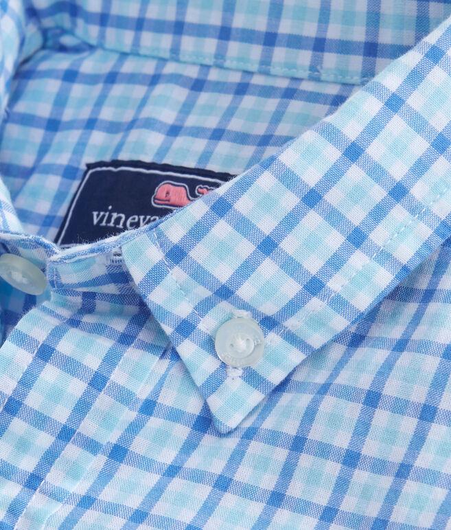 Boys Point Gammon Gingham Whale Shirt
