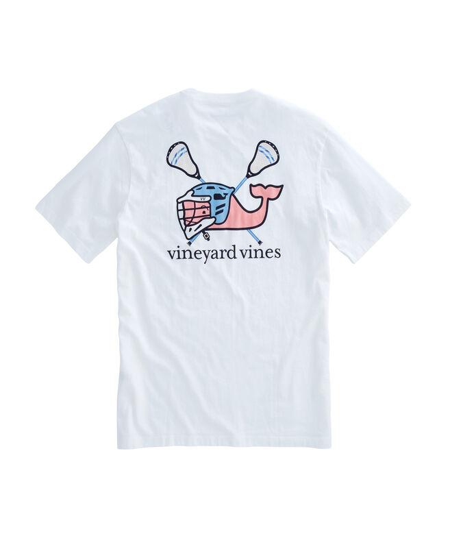 Shop Short Sleeve Lax Helmet Whale Pocket T Shirt At