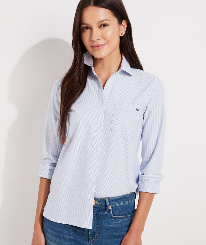 Oxford Striped Chilmark Relaxed Button-Down Shirt