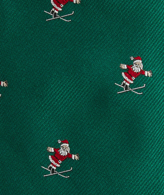 Santa Skiing Kennedy Tie