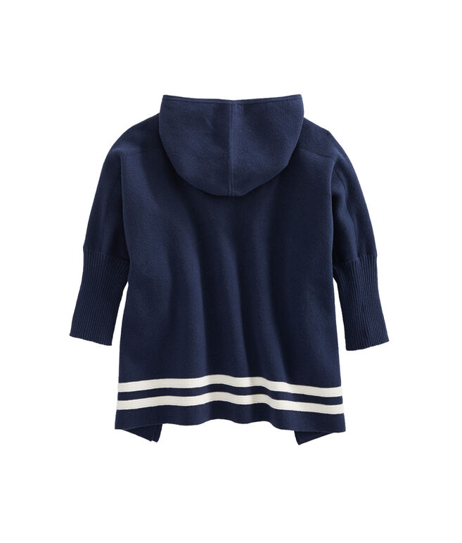 Shop Girls Hooded Sweater Poncho at vineyard vines