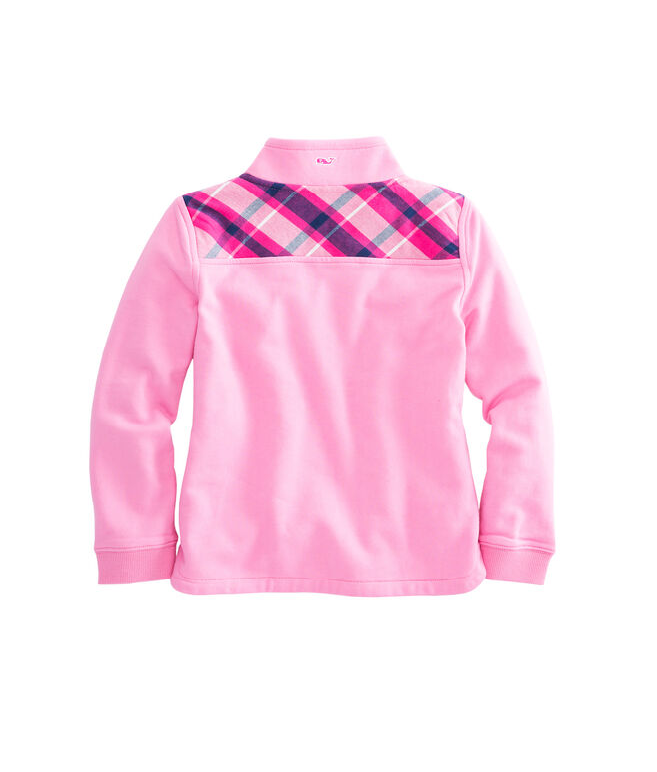 Girls Plaid Shoulder Shep Shirt