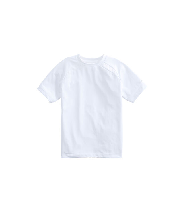 Boys Active Heathered Performance T-Shirt
