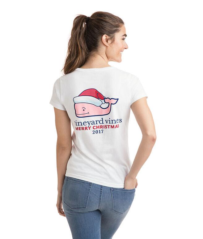 Short-Sleeve Santa Whale Tee