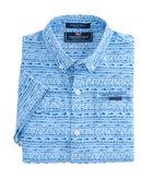 Boys Short-Sleeve Fish Hook Wave Harbor Shirt