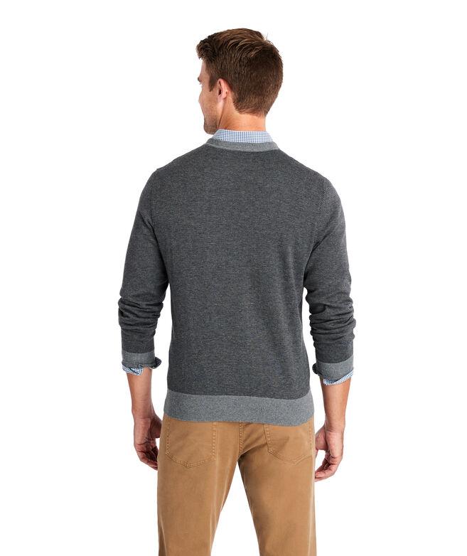 Feeder Stripe Double Knit Crew Sweater