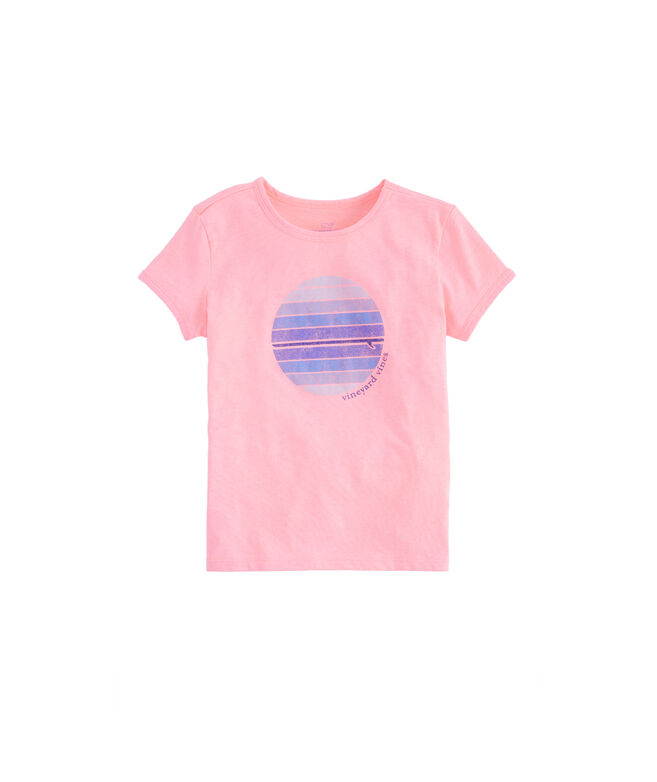 Girls Circle Graphic Island Tee