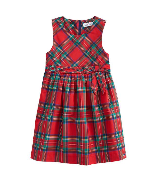 Girls Jolly Plaid Holiday Dress (2T-7)