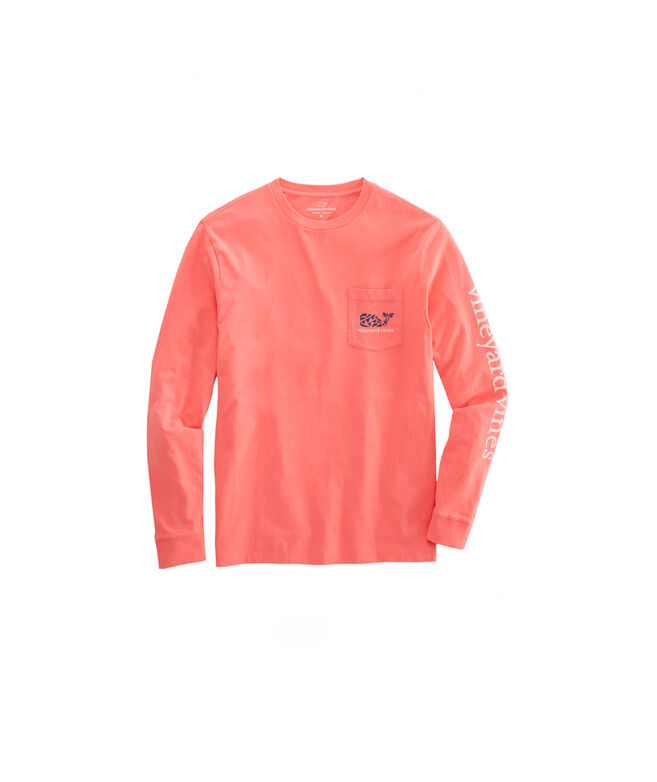 Boys Crab Stamp Long-Sleeve Pocket T-Shirt