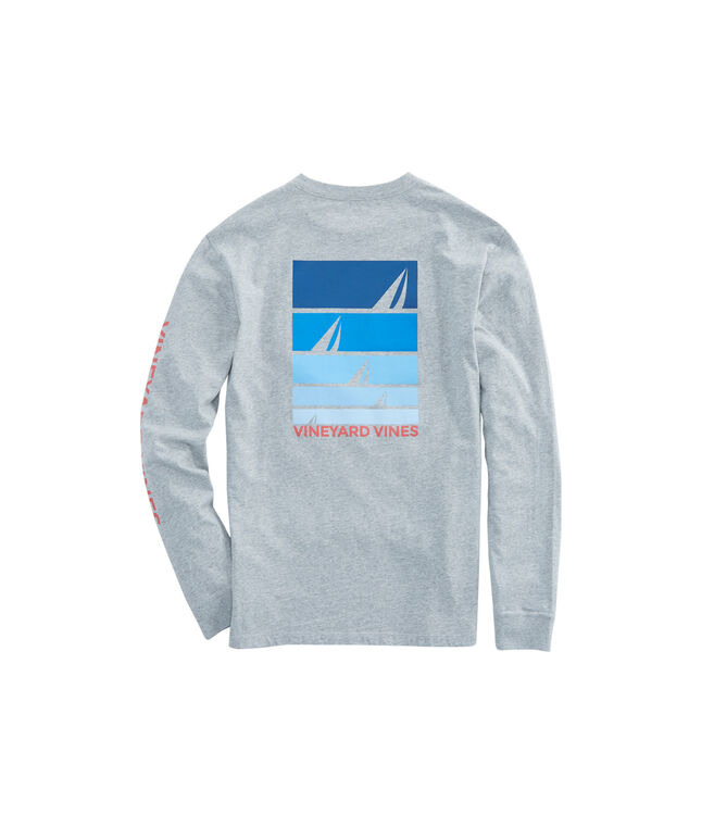 Long-Sleeve Sailing Blues Pocket T-Shirt