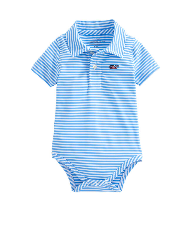 Short-Sleeve Winstead Stripe Sankaty Performance Polo Onesie