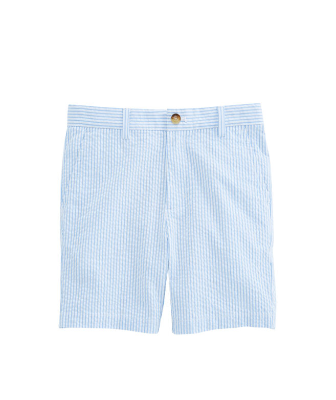 Boys Seersucker Stripe Breaker Shorts