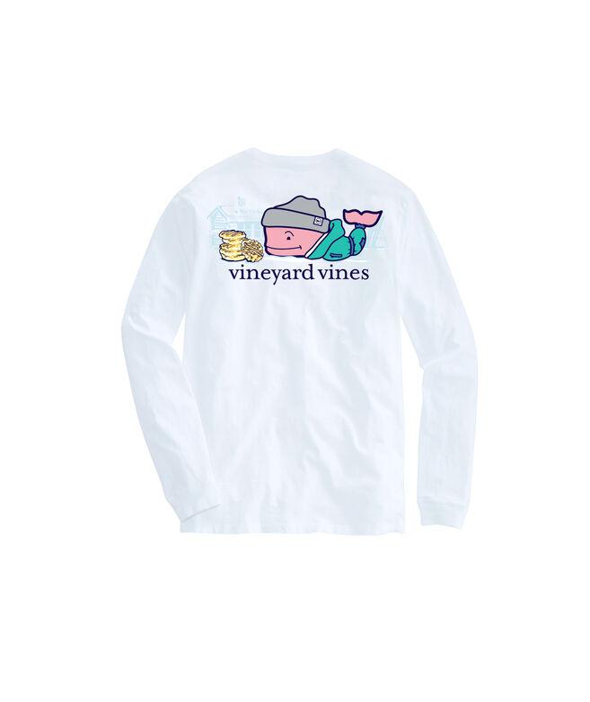 Ski Waffle Whale Long-Sleeve Pocket Tee