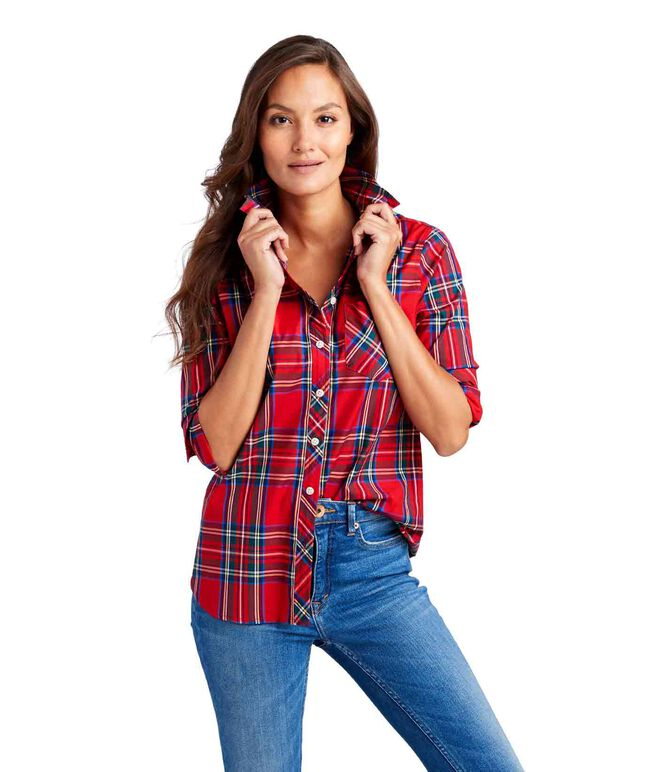 Jolly Plaid Chilmark Relaxed Button Down
