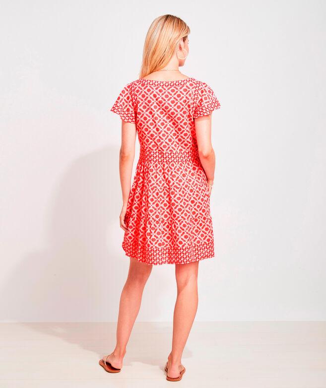 Mix Print Tiered Dress