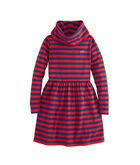 Girls Stripe Cowl Neck Dress