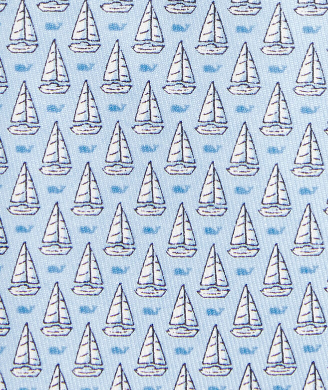 Boys' Sailboat Printed Tie