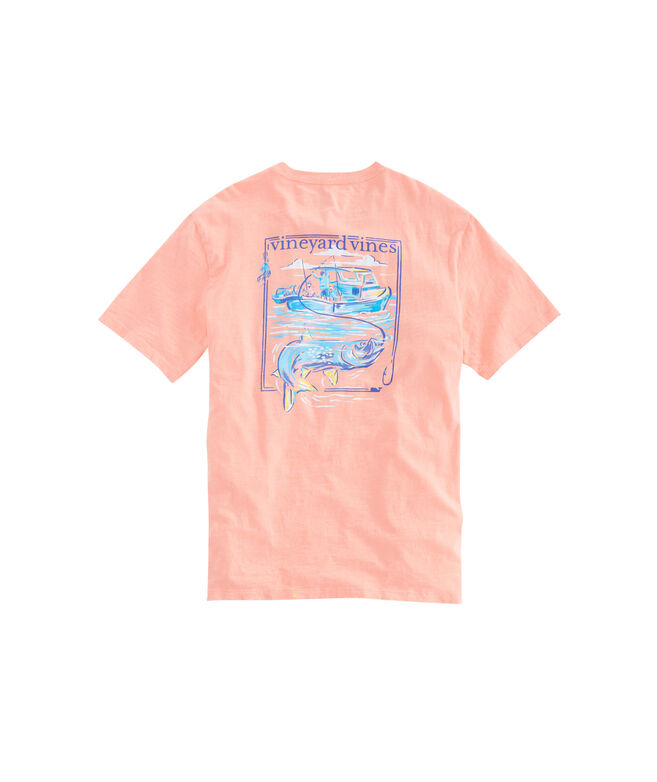 Slub Painted Tarpon Pocket T-Shirt