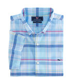Short-Sleeve Cedar Point Plaid Slim Tucker Shirt
