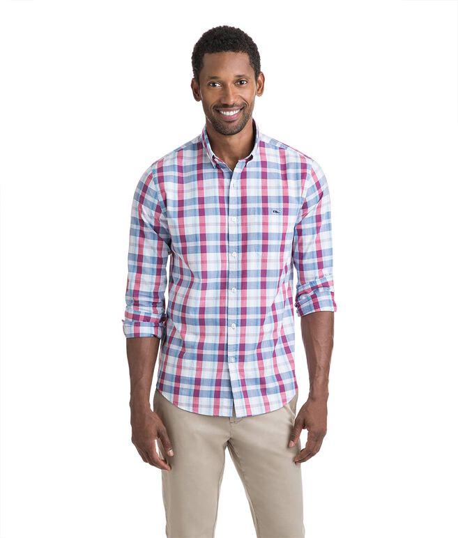 Patriots Point Plaid Slim Tucker Shirt