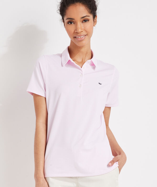 Women's Striped Short-Sleeve Polo