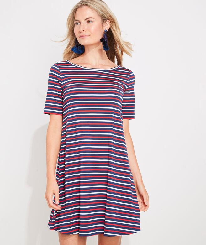 Striped Sankaty Swing Dress