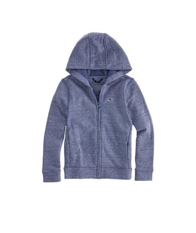Boys Triblend Full-Zip Hoodie Sweatshirt