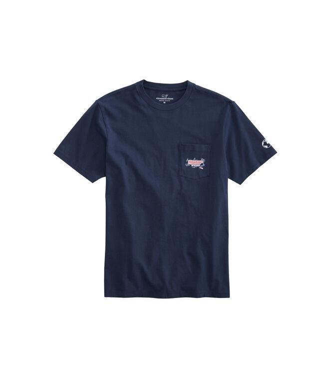 5e285461 Shop Mens Shark Week Circling Logo Box T-Shirt at vineyard vines