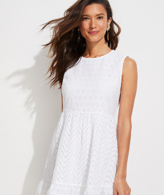 Allamanda Eyelet Sleeveless Dress