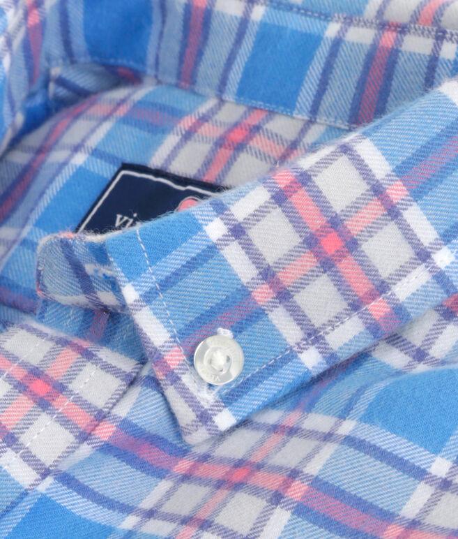 Boys Sandy Point Plaid Flannel Whale Shirt
