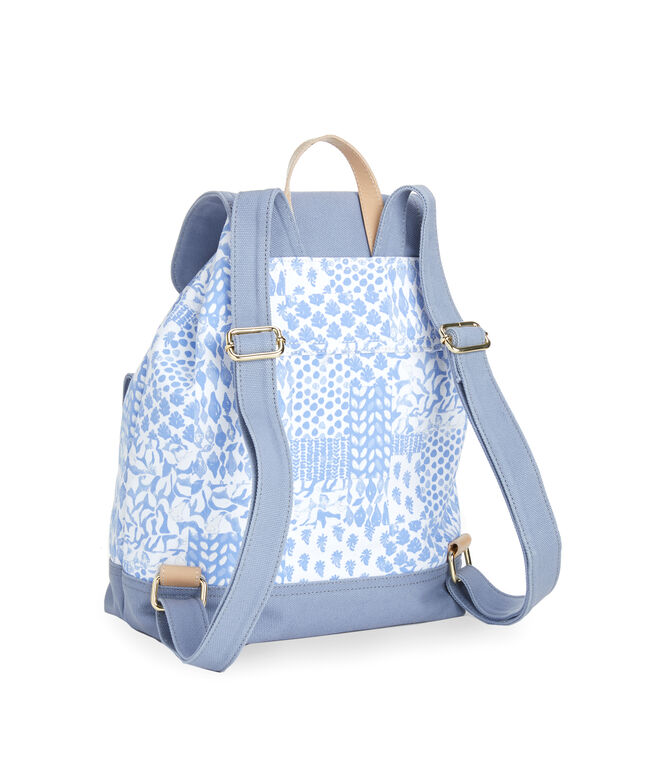 Painted Patchwork Daypack Bag