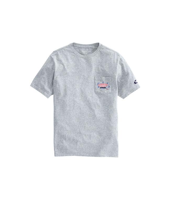Mens Shark Week Circling Sharks Surfboard T-Shirt