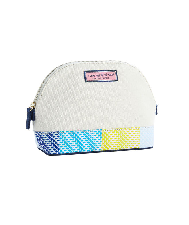 Large Patchwork Cosmetic Case