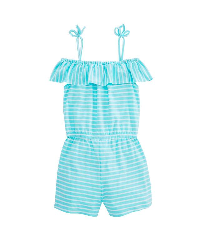 Girls Simple Stripe Knit Romper