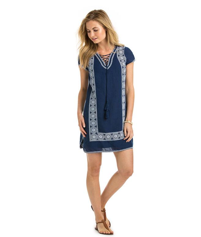 Lace Up Tunic Dress