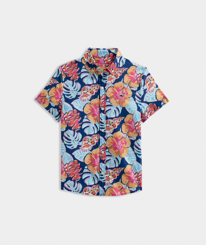 Boys' Island Leaves Short-Sleeve Shirt