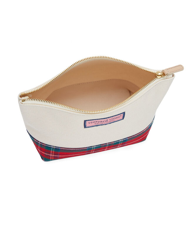 Jolly Plaid Cosmetic Case