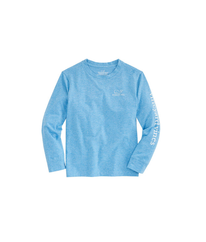 Boys Long-Sleeve Stripe Vintage Whale Edgartown T-Shirt