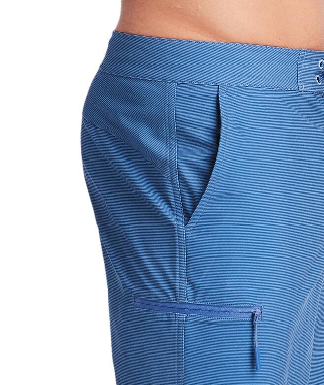 Fine Line Stripe Stretch Board Shorts