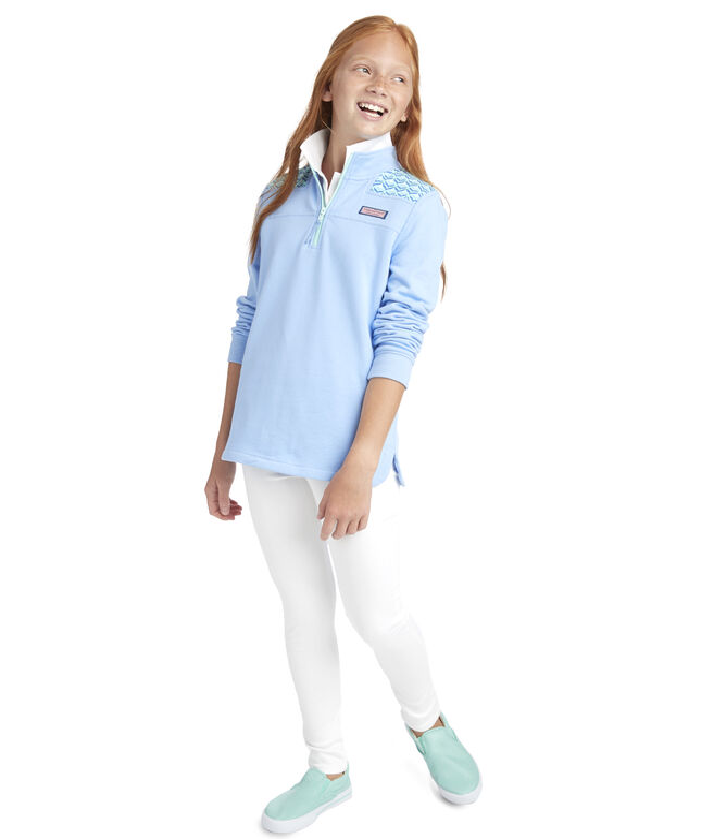 Girls Diamond Whaletail Relaxed Shep Shirt