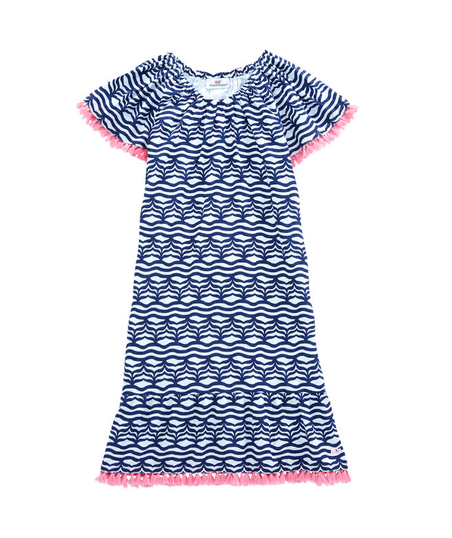 Girls Whale Tail Wave Dress