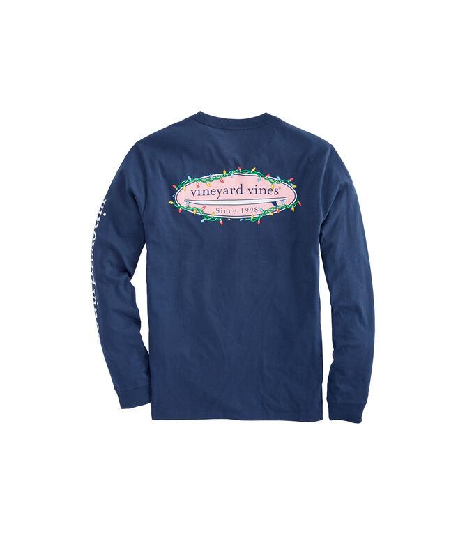 Long-Sleeve Surf Lights Pocket T-Shirt