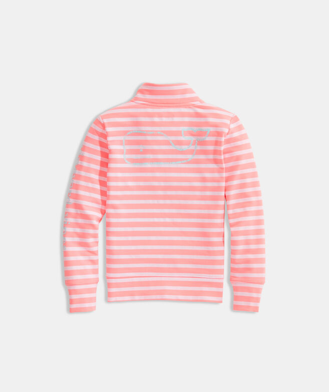 Girls' Vintage Whale Snap Placket Pullover