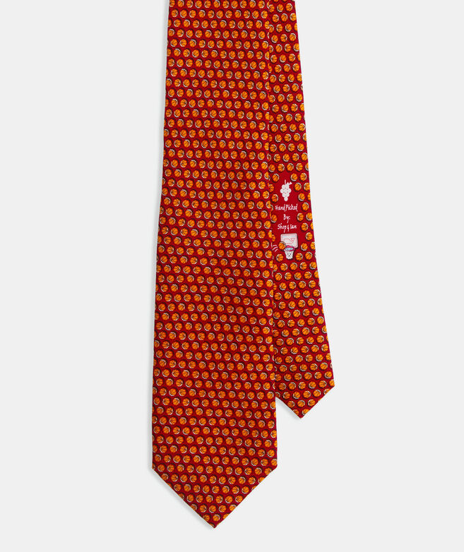 Basketballs Printed Tie