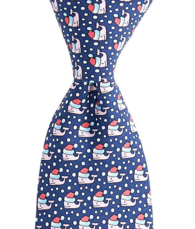 Boys Santa Whale Tie