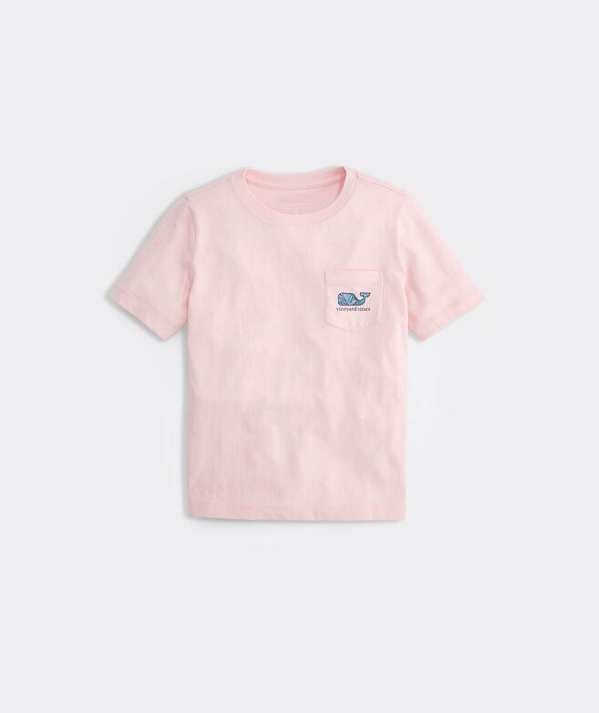 Boys' Flamingo & Leaves Whale Short-Sleeve Pocket Tee