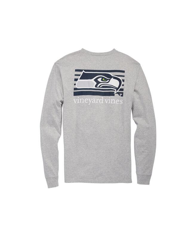 Seattle Seahawks Long-Sleeve Block Stripe Tee