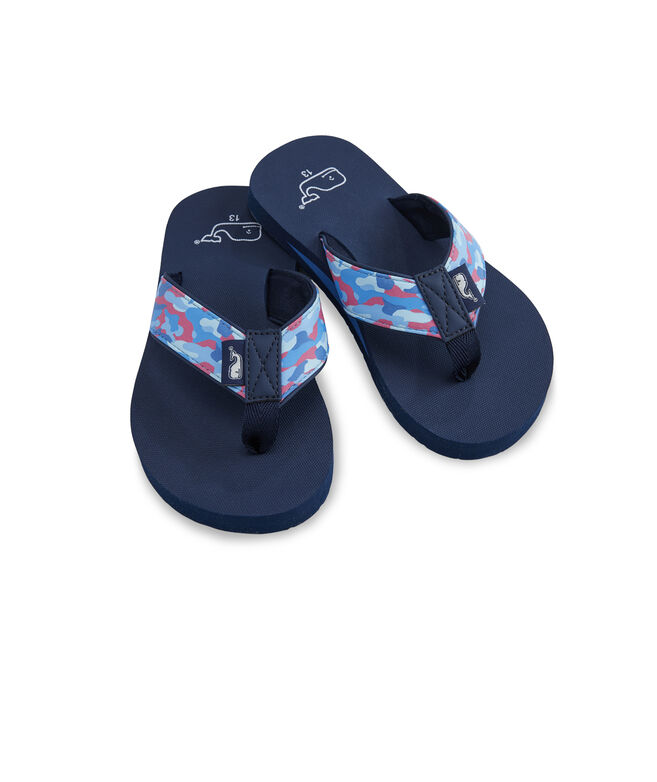 Boys' Camo Strap Classic Flip Flops