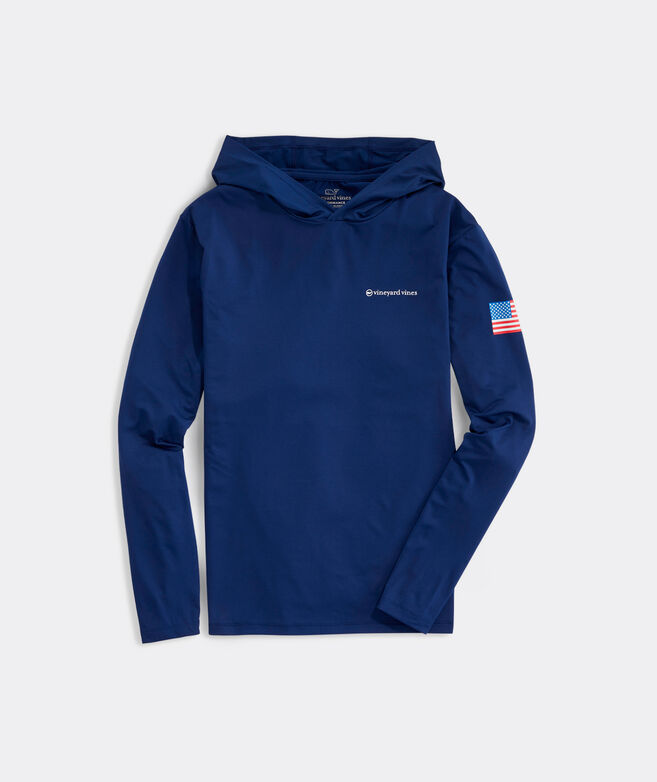 USA Long-Sleeve Hoodie Performance Harbor Tee