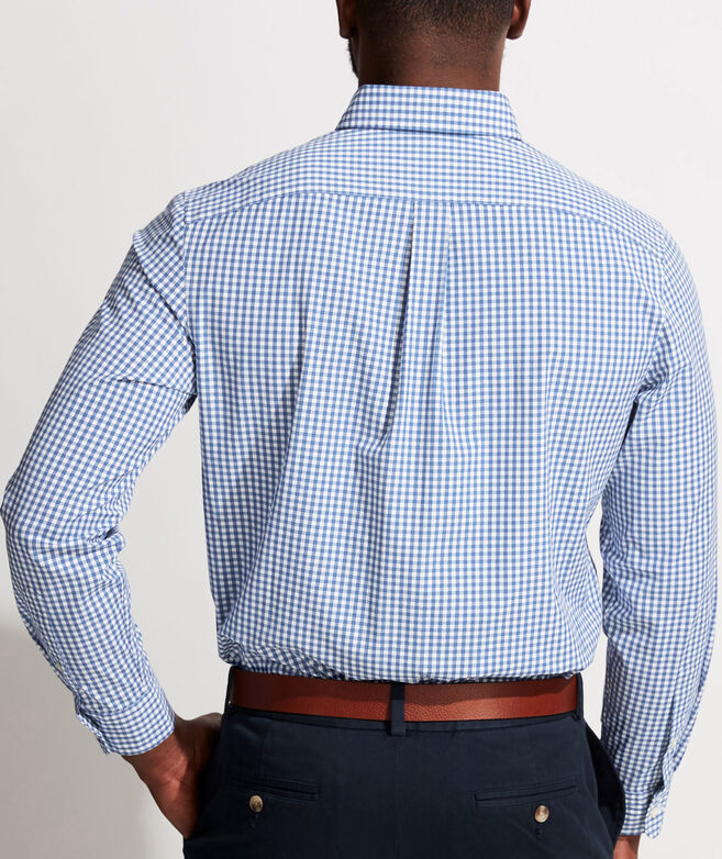 Classic Fit Gingham Shirt in Stretch Cotton